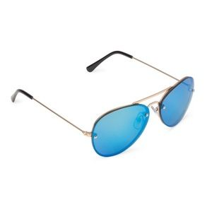 NWT Boy Frameless Aviator Gold Blue Sunglasses 5+